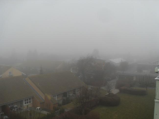 Tågen ligger tungt og eventyragtigt