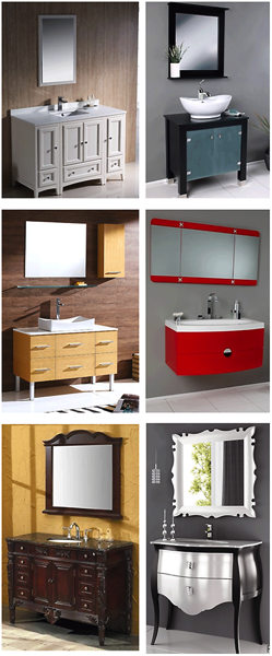 Different vanity styles