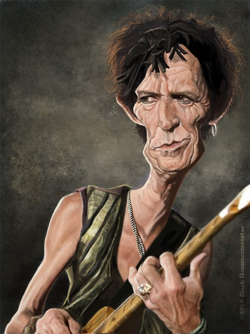kieth richards caricature