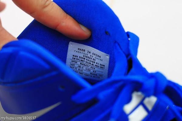Sample Look at Nike Zoom Soldier VII 7 Dyed in Royal Blue