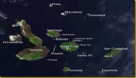 Cartina Isole Galapagos per Blog di Altre Mete
