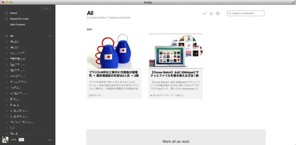 Mac app news feedly6