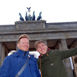Van Vuuren brothers in front of the Brandenburg Tor in Berlin, Berlin, Germany