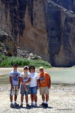 At the edge of the Rio Grande