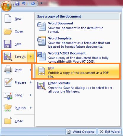 Cara Mudah Konversi Dokumen Word Ke PDF Tanpa Software Di Office 2007