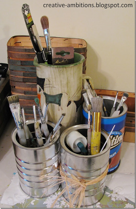 Coffee Can Art Storage