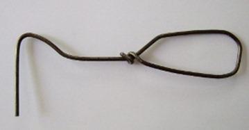 Wire weeder handmade from wire coat hanger