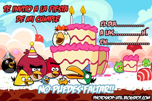 Tarjetas de invitación de cumpleaños Angry Birds - Imagui