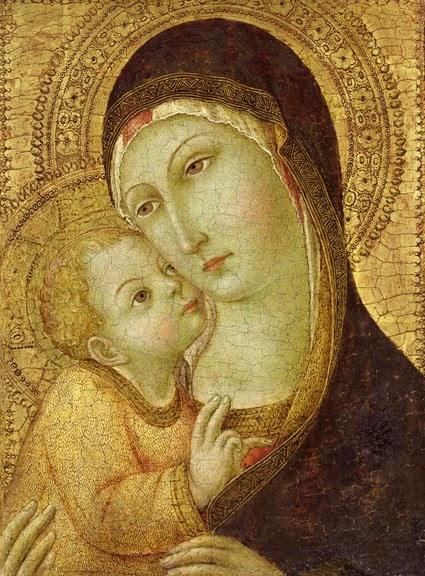 Madonna And Child Metal Print by Ansano di Pietro di Mencio