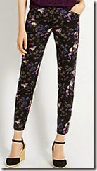 Oasis Geo Floral Print Trouser