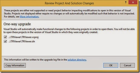 Upgrade TRViewer project and solution