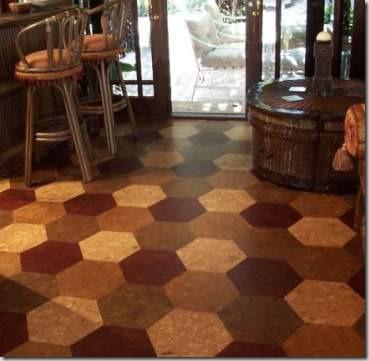 Kitchen Cork Floors With Patterns[1]