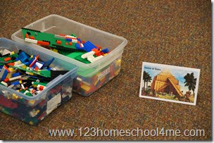 Tower of Babel Lego Bible Station for Sunday School
