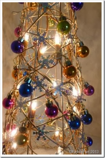 Bejewelled Dunelm Illuminated Christmas Tree Cone