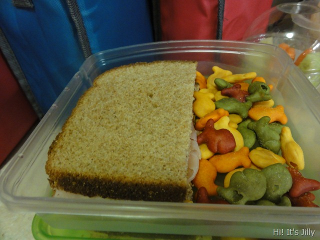 sandwich and goldfish