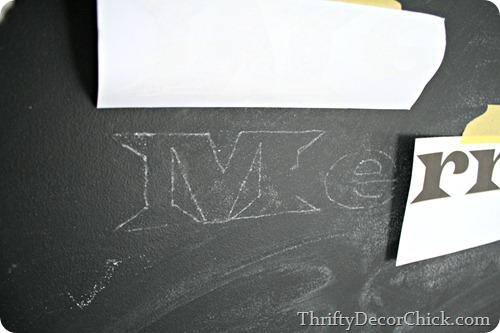 DIY image to chalkboard