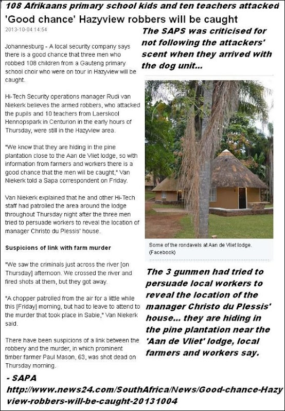 AfrikaansKidsHennopsrivierSchoolAttackedSabieHazyviewOct32013