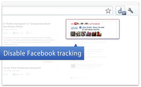 Facebook Disconnect : Stop Facebook From Tracking You