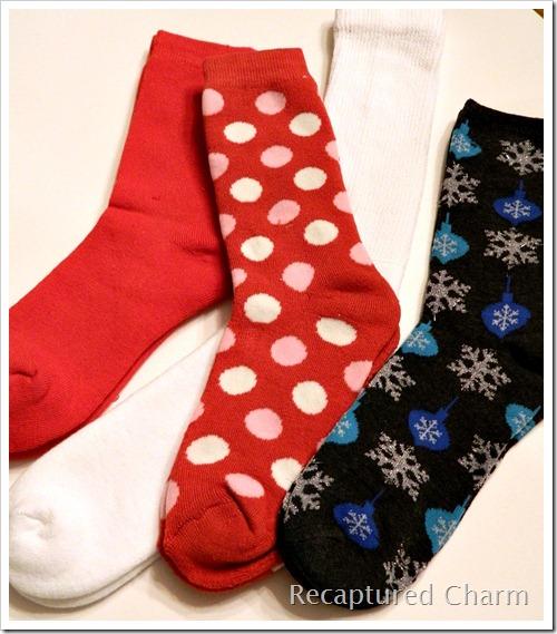Sock Snoman Sock Santa 001a