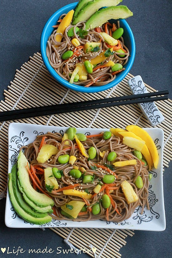 Soba Noodle Salad With Mango Edamame Pineapples Avocado 2 Jpg
