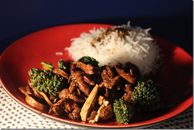 soya roasted chicken with broccoli