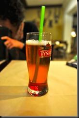 cerveja com xarope de amora