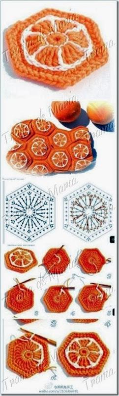 gajito naranja en hexagono paso a paso