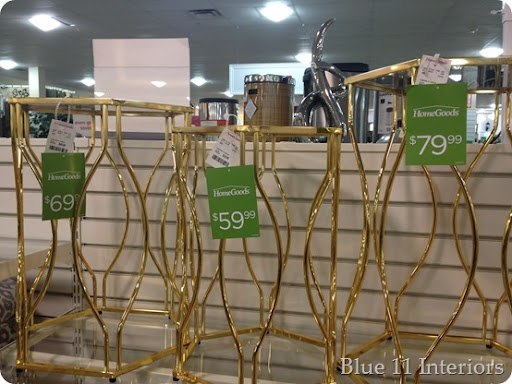 These Well Priced Knock Offs Of Some High End Tables. I Love Gold But These  May Be A Bit On The 80u0027s Shiny Brass Side. Still Pretty Though.
