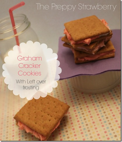 Graham Cracker Cookies {The Preppy Strawberry}