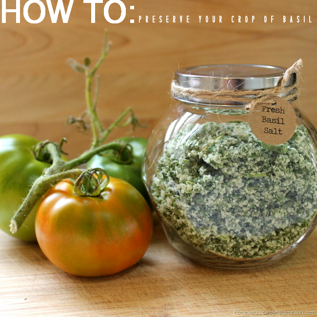Fresh Basil Salt via homework