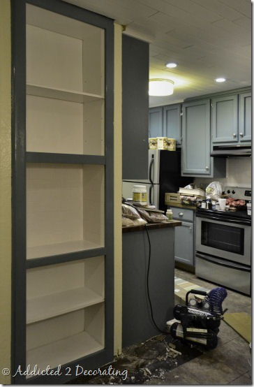 bookcase turned pantry 5