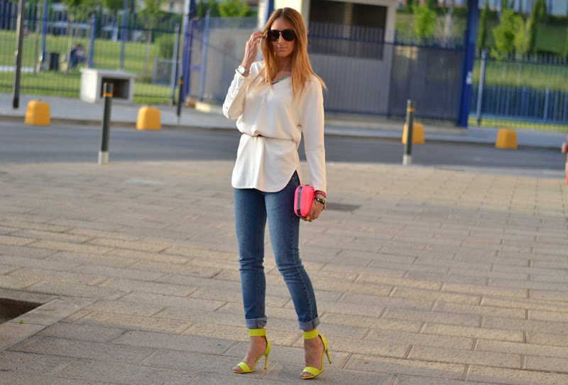 neon, zara, h&m, outfit, blogger, fashion blogger, italian fashion blogger, cheap monday, asos, dolce&gabbana