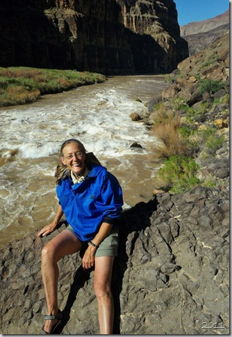 01 Gaelyn above Lava Falls Colorado River trip GRCA NP AZ (705x1024)