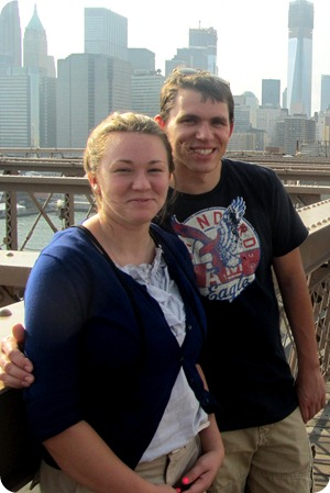 Brooklyn Bridge with Evan and Elise