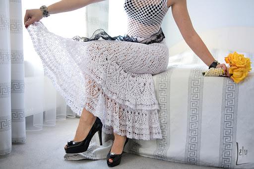 Albunes de faldas tejidas a crochet - Imagui