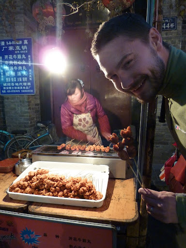 Our first street snack in Bei-yuan-men, Muslim Culture Street - YUMMY!!