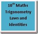 10th Maths Trigonometry Laws and Identities formulas download