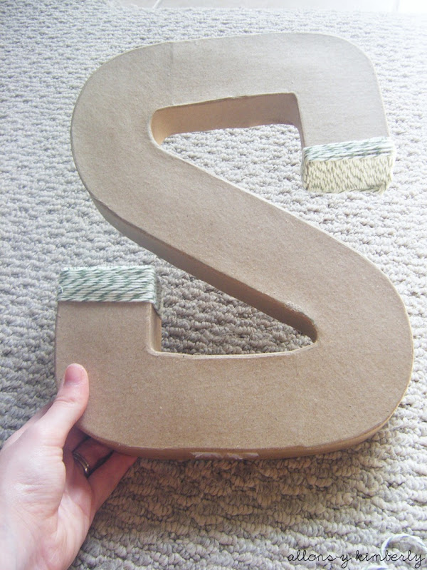 Yarn Wrapped Letter via allonsykimberly.com