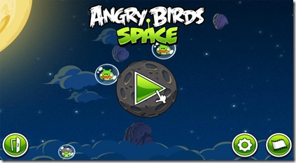 Menu Angry Birds Space