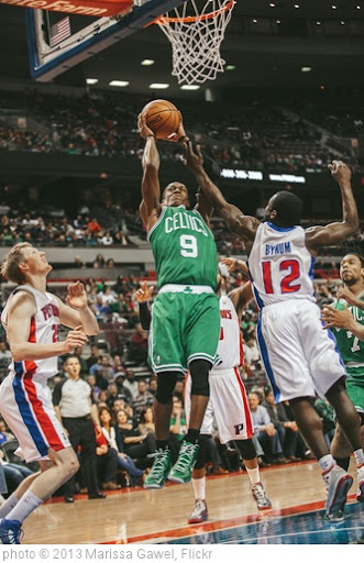 'rajon rondo, kyle singler, will bynum' photo (c) 2013, Marissa Gawel - license: http://creativecommons.org/licenses/by/2.0/