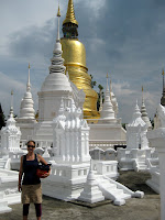 Chedis at Wat Suan Dok - Chiang Mai