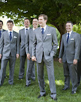 This groom worked with custom clothier Alton Lane to put together a dapper look for himself and the groomsmen. Each three-piece suit is tailored for its wearer and topped with a crisp pocket square.