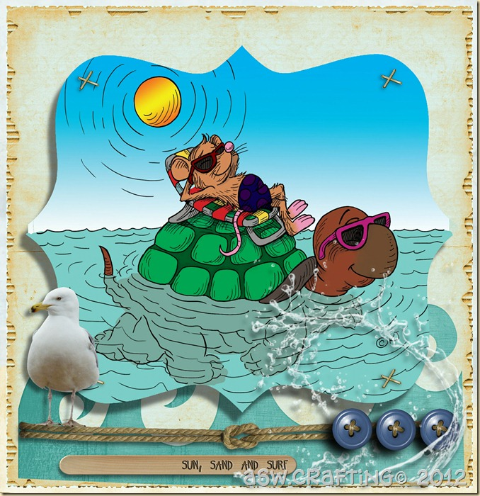 Ratty and Torty Surfin Up