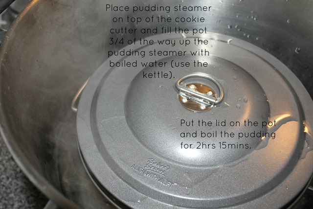 Christmas pudding boiling