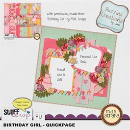 MDK Scraps - Birthday Girl - QP Preview
