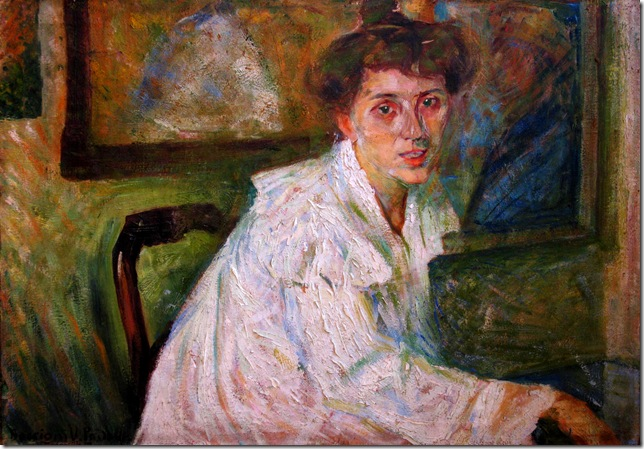 Umberto Boccioni_ritratto_sorella_1904