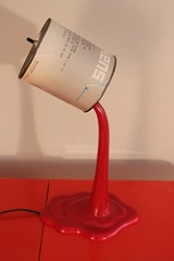 Akzo Coatings Paint can lamp with a molded red plastic base and small paint can top