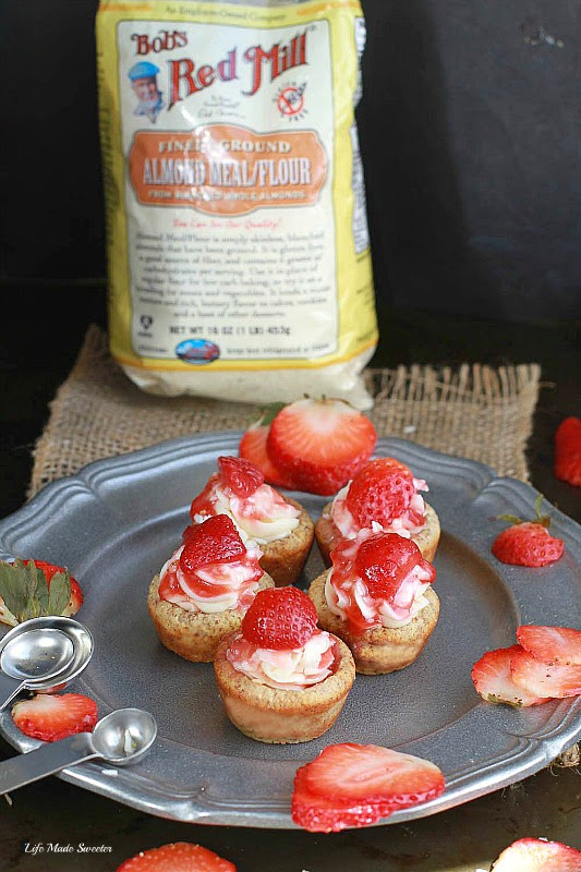Strawberry Almond Cookie Cups {gf} via - - Life Made Sweeter.jpg