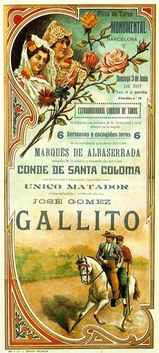 1917-06-03 Joselito Barcelona Albaserrada (Sob. A Perez) 001