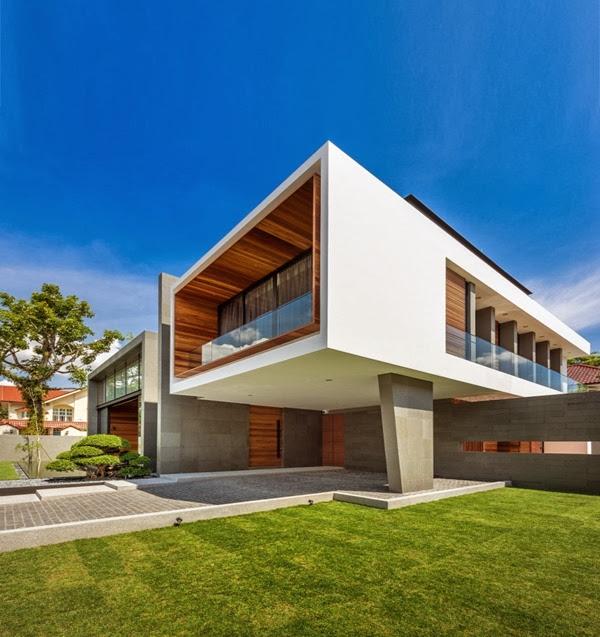 casa moderna en singapur mimosa road park associates